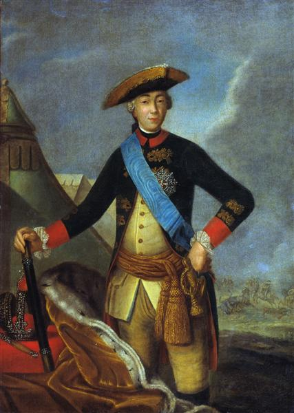 Portrait of Peter III of Russia - Fyodor Rokotov