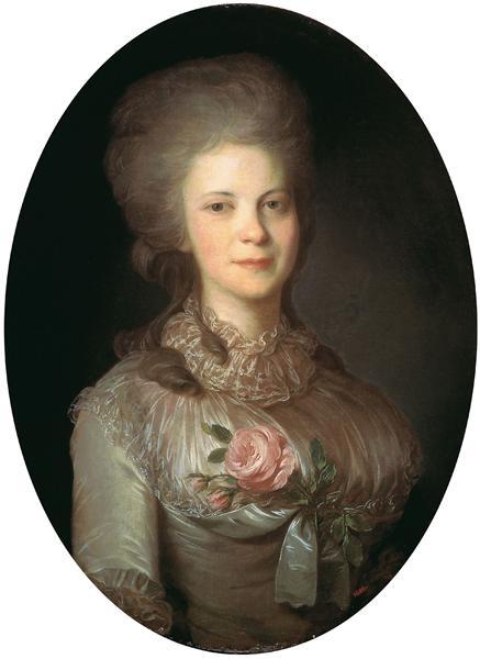 Portrait of Varvara Nikolaevna Surovceva, c.1780 - Федір Рокотов