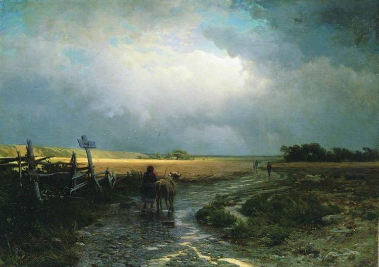 After a Rain. Country Road, 1867 - 1869 - Fyodor Vasilyev