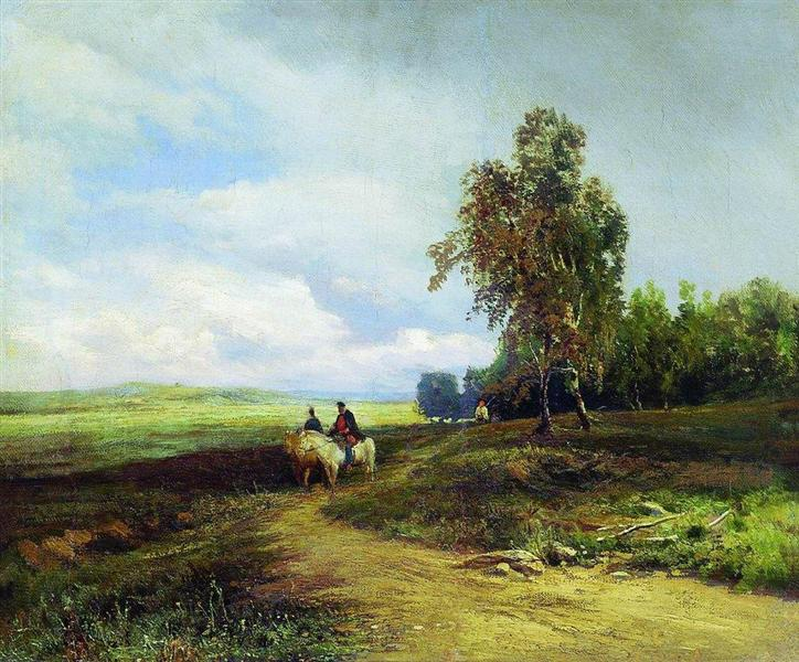 Landscape with Clouds - Fyodor Vasilyev