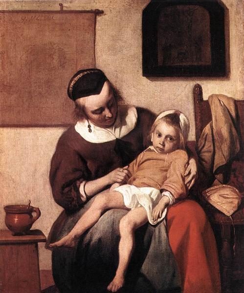 The Sick Child, c.1660 - Gabriel Metsu
