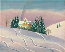 Winterlandscape in Bavaria - Gabriele Munter