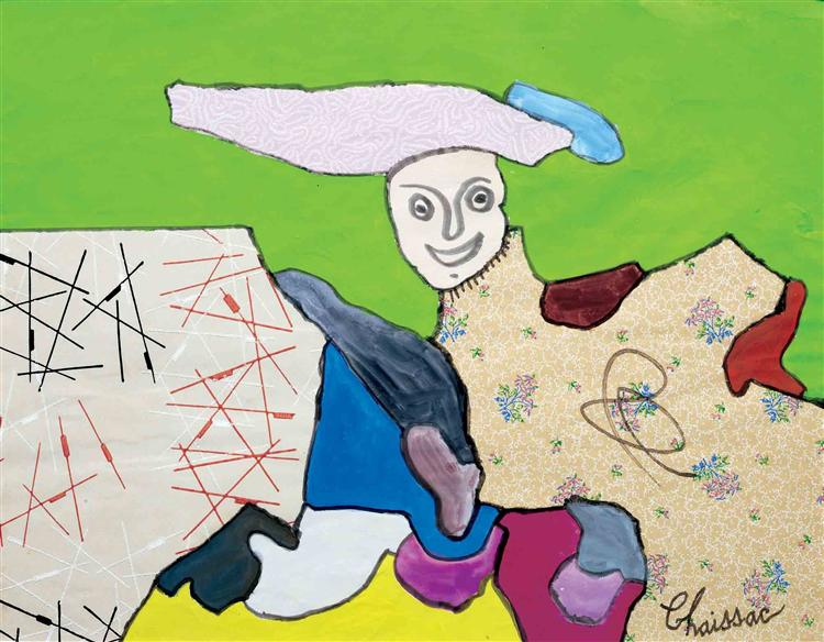 Composition à un personnage, 1962 - Gaston Chaissac