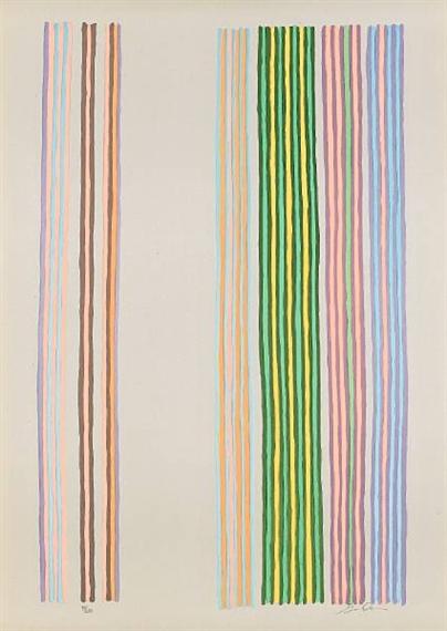 Royal Curtain, 1980 - Gene Davis