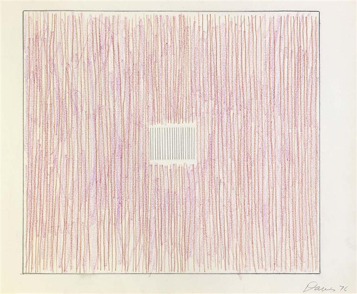 Untitled (Pink Stripes-Gray Box), 1976 - Gene Davis