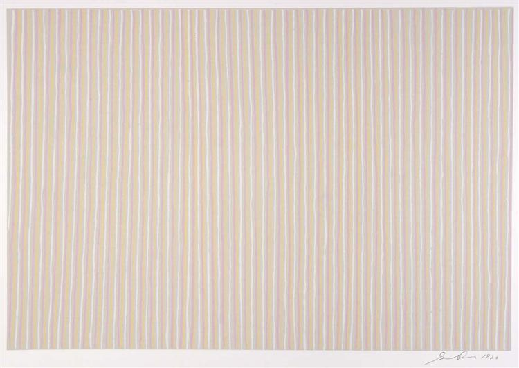Untitled (Pink, Yellow and White), 1980 - Gene Davis