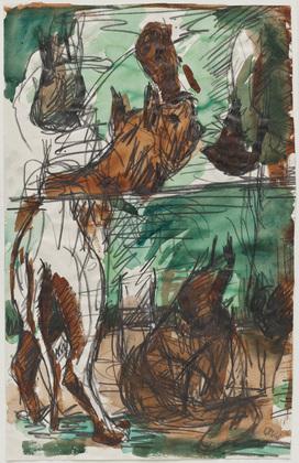 Dog-Split, 1968 - Georg Baselitz