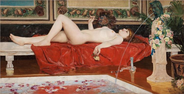 Roman Bath, Odalisque, 1881 - Georg Pauli