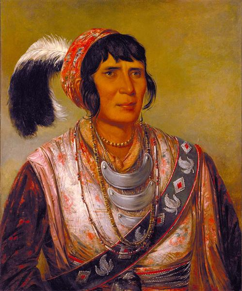 Osceola, Head Chief, Seminole, 1838 - George Catlin