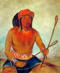 Tul-lock-chísh-ko, Drinks the Juice of the Stone (Choctaw) - Джордж Кетлін