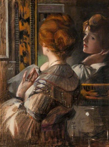 The Tortoiseshell Mirror - George Henry