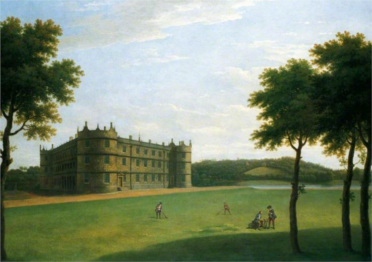 Longford Castle from the South West, 1743 - Джордж Ламберт