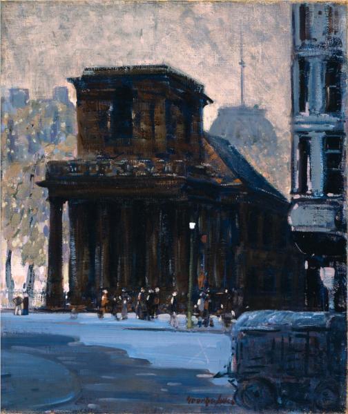 King's Chapel, Boston, 1923 - George Luks
