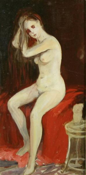 Seated Nude, 1905 - George Luks