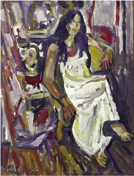 Girl wearing white dress - George Mavroides