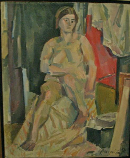 Seated nude - George Mavroides