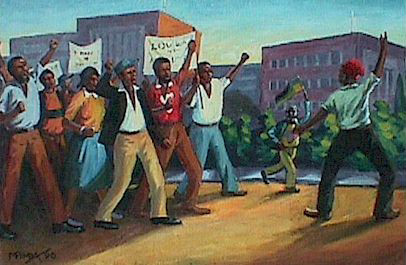 The protest, 1990 - George Pemba