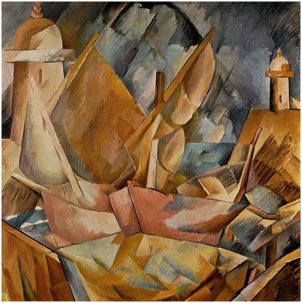 Zorz Brak ( Georges Braque ) - Page 4 Harbor-in-normandy-1909