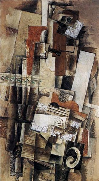 Man with a Guitar, 1914 - Georges Braque