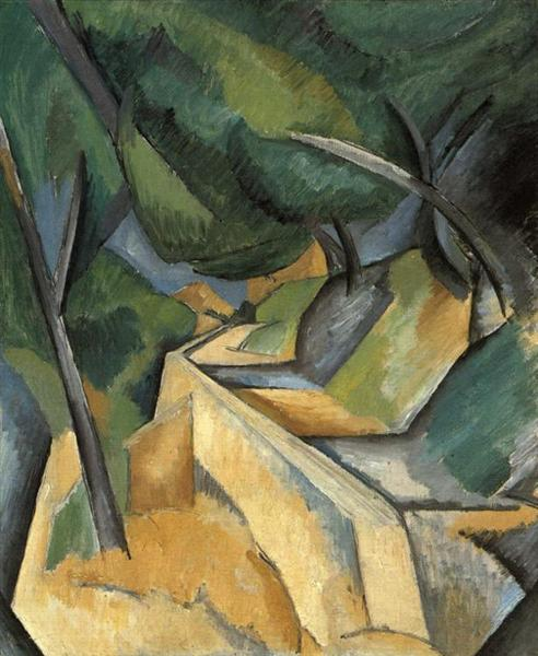 Road near Estaque, 1908 - Georges Braque