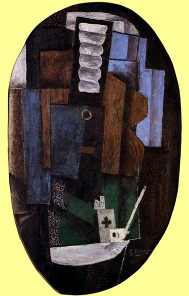 Still Life with a Guitar on a Table, 1918 - Georges Braque