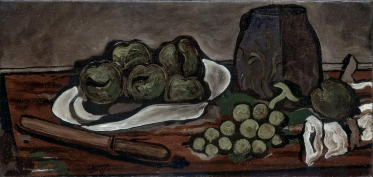 Still life with fruits, c.1925 - Georges Braque