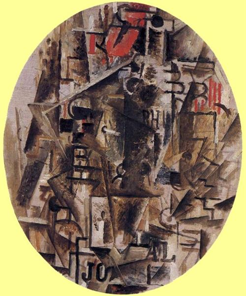 The Bottle of Rum, 1912 - Georges Braque