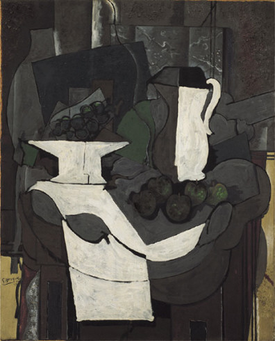 Zorz Brak ( Georges Braque ) - Page 4 The-bowl-of-grapes-1926