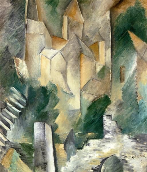 The Church of Carrières-Saint-Denis, 1909 - Georges Braque