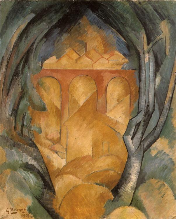 Zorz Brak ( Georges Braque ) - Page 5 Viaduct-at-estaque-1908