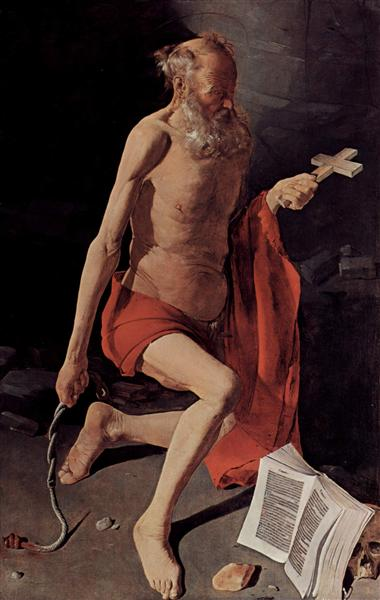 St. Jerome, 1620 - Georges de la Tour