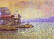 View of the Thames - Жорж Леммен
