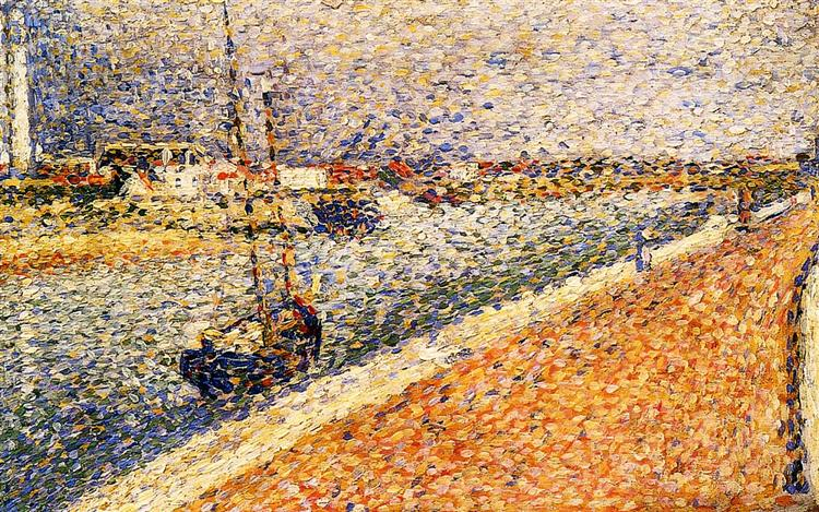 Study for 'The Channel at Gravelines', 1890 - Georges Pierre Seurat