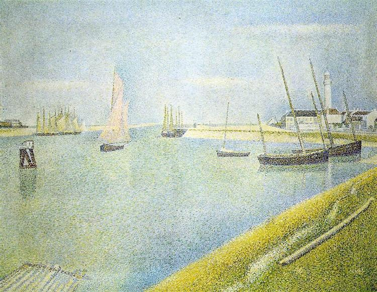 The Channel at Gravelines, in the Direction of the Sea, 1890 - Georges Seurat