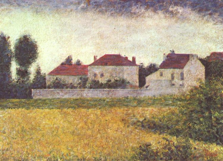 White Houses, Ville d'Avray, 1882 - Georges Seurat