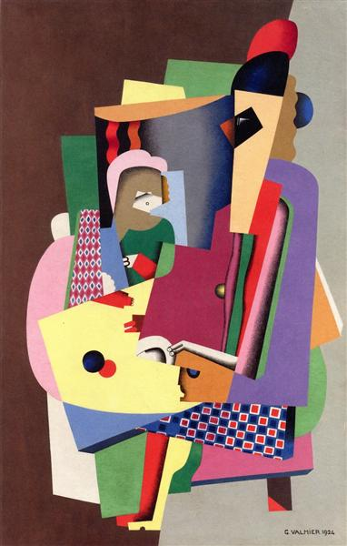 The Piano Lesson - Georges Valmier