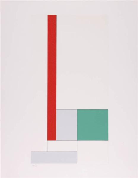 Y= - x2 + bx + c rouge-vert, 1933 - Georges Vantongerloo