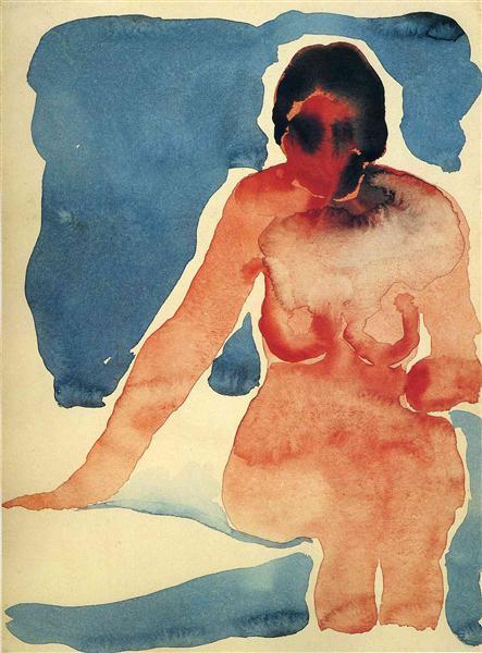 Seated Nude, 1917 - Georgia O'Keeffe