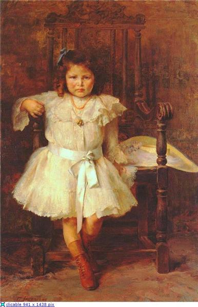 Portrait of Young Girl, 1902 - Georgios Jakobides