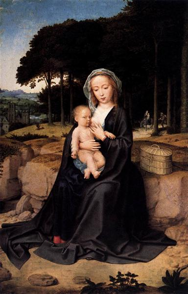 A Rest During the Flight to Egypt, c.1510 - c.1515 - Gerard David