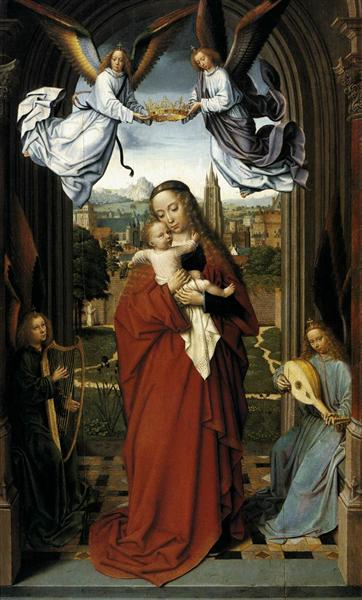 Virgin and Child with Four Angels, c.1510 - c.1515 - Gerard David