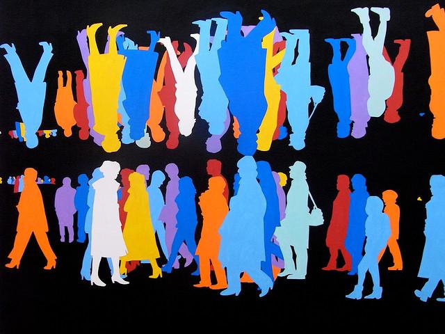 Corps à corps, bleu, 2006 - Gerard Fromanger