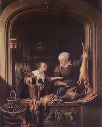 A Poulterer's Shop - Gerard Dou
