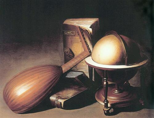 Still Life with Globe, Lute and Books