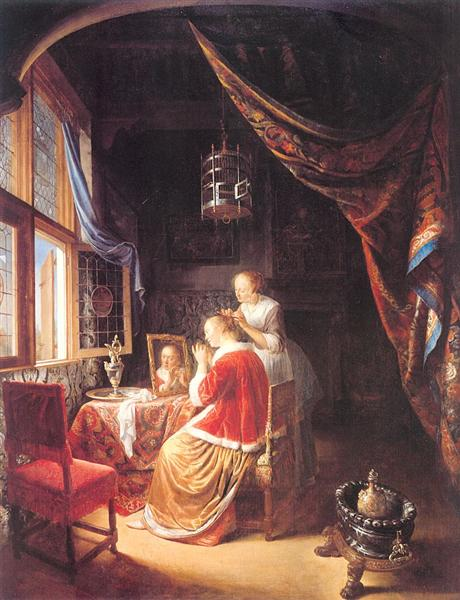 The Lady at Her Dressing Table, 1667 - Gerrit Dou
