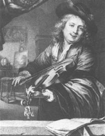 Violin player - Gerard Dou