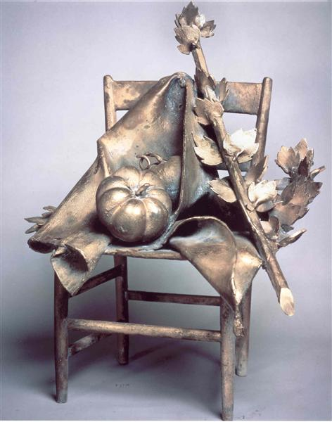 Sedia con Pomodoro - Giacomo Manzu