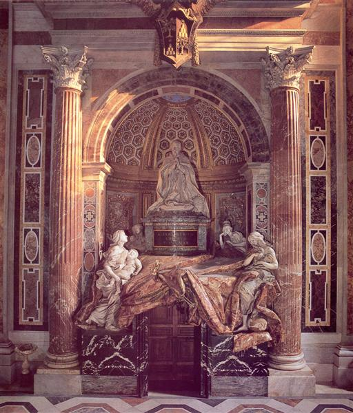 Tomb of Pope Alexander VII, 1671 - 1678 - Лоренцо Берніні