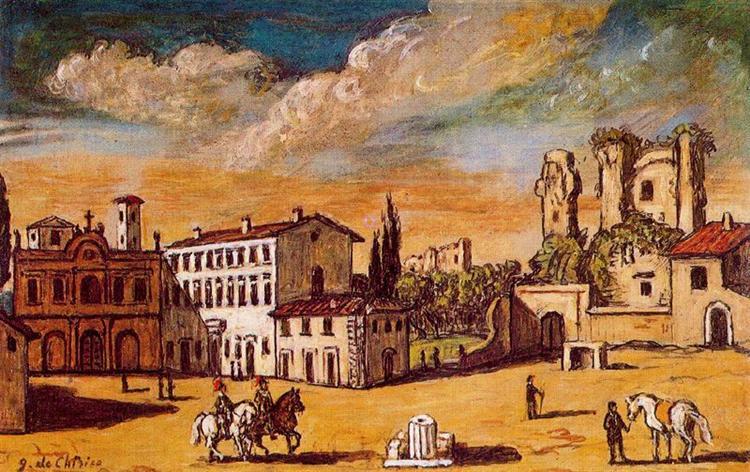 Cityscape - Giorgio de Chirico