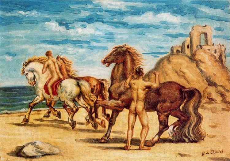Horses with riders, 1934 - Giorgio de Chirico